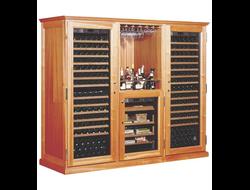 """Внешняя отделка винных шкафов - корпуса серии """"Элит"""", """"Традиция"""", отделка натуральной кожей"""