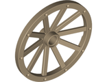 Wheel Wagon Huge (43mm D.), Dark Tan (33211 / 6037586)
