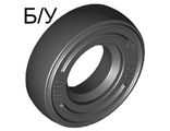 ! Б/У - Tire 14mm D. x 4mm Smooth Small Single, Black (3139 / 313926 / 4516843) - Б/У