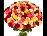 Букет из 101 розы - Радуга