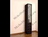 Недорогой шкаф петербург с зеркалом и ящиками 400х2100/2200/2300/2400x520 мм
