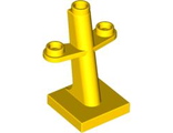 Boat Mast 2 x 2 x 3 Inclined with Stud on Top and Two Sides, Yellow (4289 / 4612112)