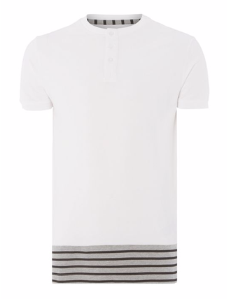 Футболка ONLY & SONS Pique Stripe Hem T-Shirt