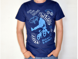 Футболка *Ride Bike* dark blue