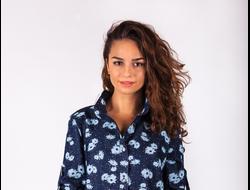 ПЛАТЬЕ 2213/1. Джинсовое молодежное платье, в боковых швах-карманы. Длина изделия 83 см. Материал: Джинс.