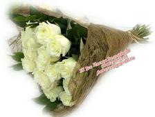 Букет из 15 роз Белый