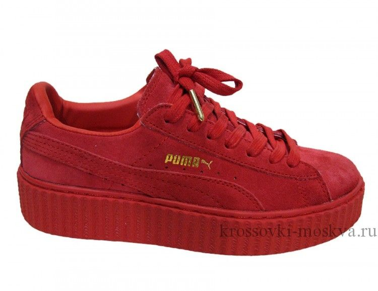 Кроссовки Puma Creeper By Rihanna красные (артикул-8)