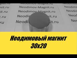 Неодимовый магнит 30х20