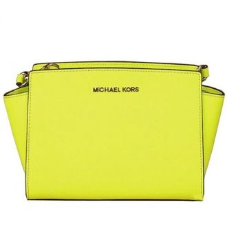 Сумка Michael Kors Selma Mini Messenger Yellow / Жёлтая