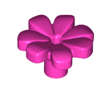 Friends Accessories Flower with 7 Thick Petals and Pin, Dark Pink (32606 / 6206151)