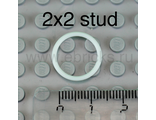 Rubber Belt Small (Round Cross Section) - Approx. 2 x 2, White (x71 / 4544140 / 70902)