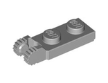 Hinge Plate 1 x 2 Locking with 2 Fingers on End without Bottom Groove, Light Bluish Gray (44302b / 4211804)