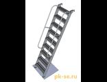 Инвентарная приставная лестница с поручнями