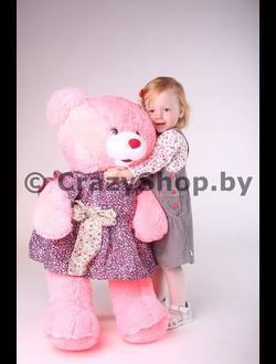 """Плюшевая медведица """"Джулия"""" розового цвета 110 см."""