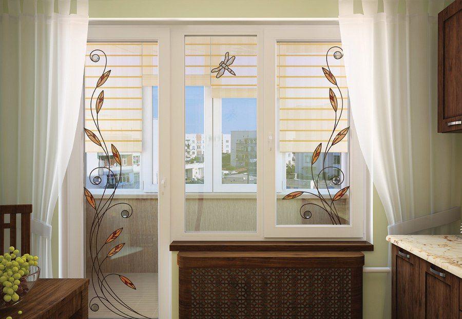 Дизайн окна лоджии..