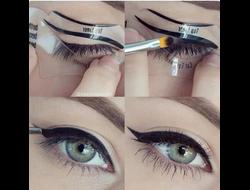 Набор силиконовых трафаретов для стрелок и smoky eyes