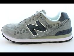 Мужские кроссовки New Balance 574 Gray замшевые
