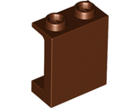 Panel 1 x 2 x 2 with Side Supports - Hollow Studs, Reddish Brown (87552 / 4618541 / 6064188)