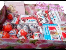 Набор шоколада в коробке Подарок Киндер-шоколад