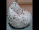 Кресло-груша МАДЕМУАЗЕЛЬ, жаккард принт