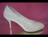Свадебные туфли айвори перламутр круглый мыс маленький каблук шпилька выбитая кожа интернет магазин