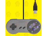 Super Nintendo Famicom SF SNES PC Controller Gamepad purple USB, контроллер для компьютера. OEM.