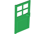 Door 1 x 4 x 6 with 4 Panes and Stud Handle, Green (60623 / 4583718)