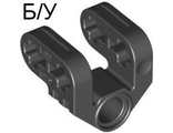 ! Б/У - Technic, Axle and Pin Connector Perpendicular Split, Black (92907 / 4610371) - Б/У