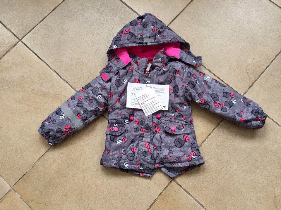 Мембранная весенняя куртка для девочки на 4 года
