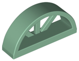 Window 1 x 4 x 1 2/3 with Spoked Rounded Top, Sand Green (20309 / 6138738)