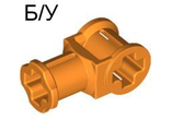 ! Б/У - Technic, Axle Connector with Axle Hole, Orange (32039 / 4144294 / 4252466) - Б/У