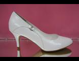 Свадебные туфли белые кожаные классика маленький низкий каблук купить магазин салон интернет Москва