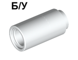 ! Б/У - Technic, Pin Connector Round 2L without Slot Pin Joiner Round, White (75535 / 75535) - Б/У