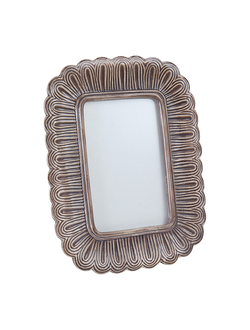 Фоторамка 23.5X18CM  PHOTO FRAME BOUCLE TAUPE  POLYRESIN 29956