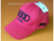 Бейсболка с логотипом авто AUDI (красная)