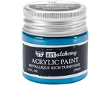 Acrylic Paint-Metallique Rich Turquoise 1.7oz
