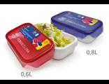 Герметичный пластиковый контейнер FCB Iris Barcelona 600 мл красный