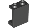 Panel 1 x 2 x 2 with Side Supports - Hollow Studs, Black (87552 / 4593678)