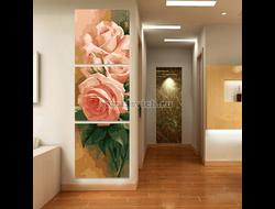 Картина по номерам Нежные розы (триптих)