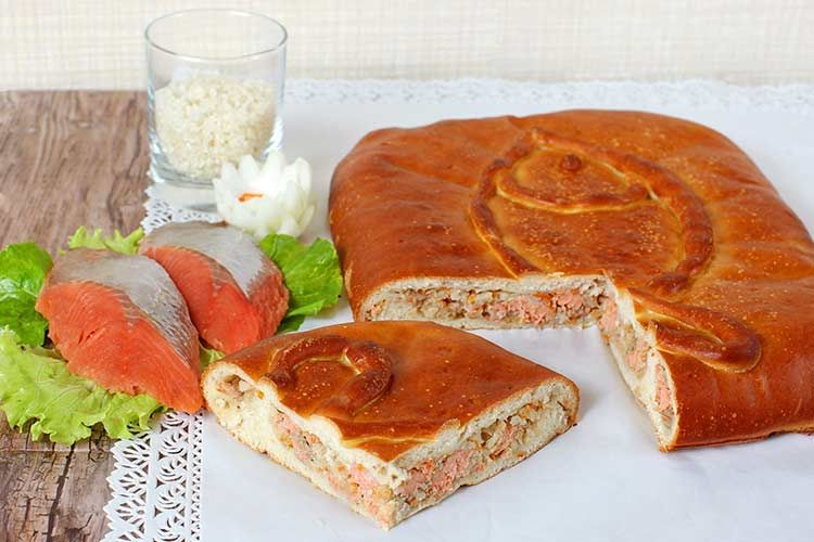 Пироги с кетой