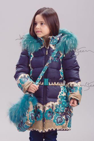 Пальто для девочки, био-пух 715306 Билеми (модификация 1)