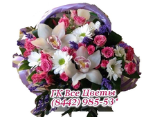 Шикарность цветов корзина