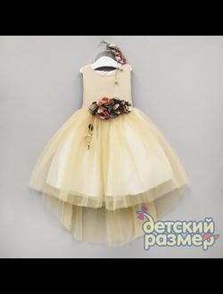 Платье (объёмные цветы + ободок) | арт.84329