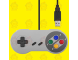 Super Nintendo Famicom SF SNES PC Controller Gamepad Joypad USB, контроллер для компьютера. OEM.