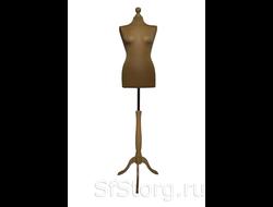 MDT-6 R Манекен портновский женский мягкий телесный на деревянной подставке