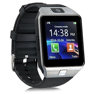 Умные часы-телефон Smart Watch Phone DZ09 (Серебристый)