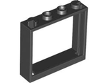 Window 1 x 4 x 3 - No Shutter Tabs, Black (60594 / 4520620 / 4530589)