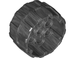 Wheel Hard Plastic, Treaded with 7 Pin Holes 37mm D. x 22mm, Pearl Dark Gray (22410 / 6122170)
