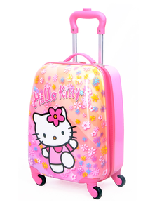 "Детский чемодан на 4 колесах - ""Hello Kitty / Хелло Кити - Цветы"" «Disney»"