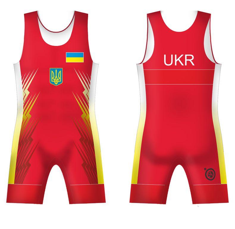 5eccadcef Борцовское Трико сборной Украины UWW Ukraine 2016 Red Красное